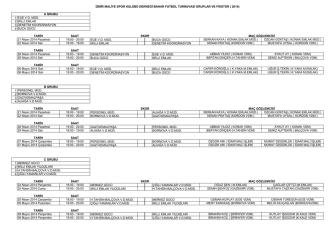 21 Nisan 2014 Pazartesi günü ilk düdüğün çalınacağı turnuvada