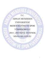 tc adnan menderes üniversitesi beden eğitimi ve spor yüksekokulu