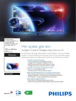 60PFL8708S/12 Philips 4 Taraflı Ambilight XL ve Perfect Pixel HD