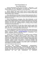 Türk Ekonomi Bankası A.Ş. İhraççı Bilgi Dokümanı