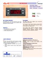IC 912LX TR - FRİGO SOĞUTMA SANAYİ ve TİCARET A.Ş.