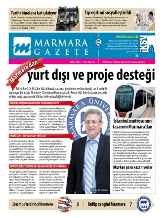 2 7 Tıp eğitimi sosyalleştirildi İstanbul metrosunun tasarımı Marmara