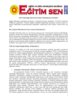 AKP Yeni YÖK Yasasını Adım Adım Hayata Geçiriyor - Eğitim-Sen