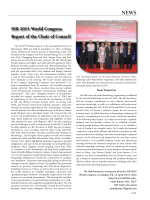 ISH 2014 World Congress Report of the Chair of