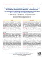 Homozigot ailevi hiperkolesterolemili hastaların uzun dönem izlemi