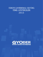 gyoder türkiye gayrimenkul sektörü temel göstergeleri 2013
