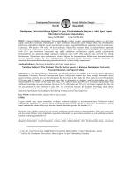 Dumlupınar Üniversitesi Beden Eğitimi Ve Spor Yüksekokulunda