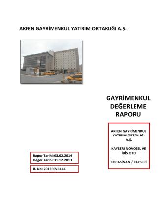 05. Novotel ve Ibis Otel Kayseri