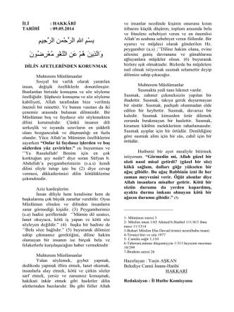 09.05.2014 - Dilin Afetleri