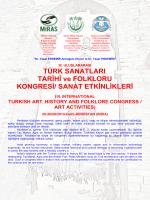 TÜRK SANATLARI, TARİHİ ve FOLKLORU KONGRESİ