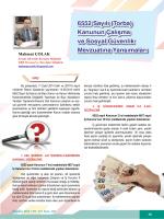 6552 Sayılı (Torba) Kanunun Çalışma ve Sosyal Güvenlik