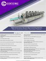 High Performance Vacuum Bag Converting