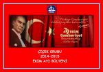 ÇİÇEK GRUBU 2014-2015 EKİM AYI BÜLTENİ