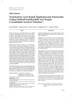 Transkateter Aort Kapak İmplantasyonu Sonrasında