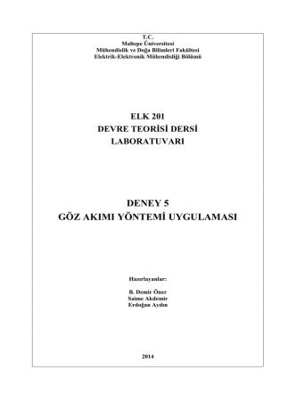 5. Deney (14-15) - Maltepe Üniversitesi