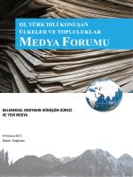 3. türk dili konuşan ülkeler ve topluluklar medya forumu