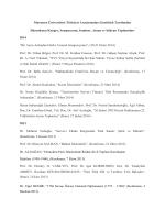 Düzenlediği Kongre, Sempozyum, Seminer, Anma ve Şükran