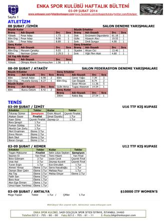 10-16 şubat 2014