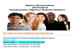 2014-2015 Akademik Yılı Yabancı Uyruklu Adayların Başvuru Tarihleri