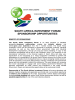 south africa investment forum sponsorship opportunities