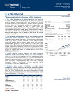 ÜLKER BİSKÜVİ - Yapı Kredi Yatırım