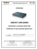 aırlıve mw2000s - Simet İletişim ve Bilgisayar