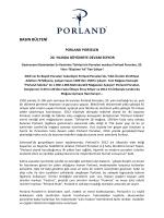 basın bülteni - Porland Porselen