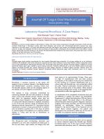 Journal Of Turgut Ozal Medical Center