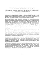 nin 2013 yılına ait 27/03/2014 tarihli olağan genel kurul