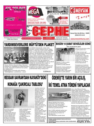 14.02.2014 Tarihli Cephe Gazetesi