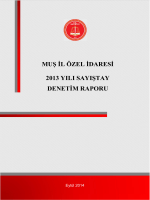 MUġ ĠL ÖZEL ĠDARESĠ 2013 YILI SAYIġTAY DENETĠM RAPORU