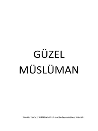 (5.) Ankara Hacı Bayram Veli Camii Sohbetidir.