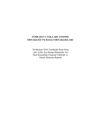 2014 06 Aylık Finansal Tablolar