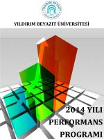2014 yılı performans programı - Yıldırım Beyazıt Üniversitesi