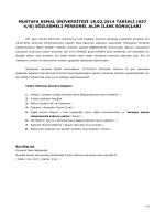DÖNER SERMAYE - Mustafa Kemal Üniversitesi