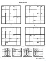 Kendoku(5x5 Zor) 1. 2. 3. 4.