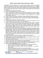 Yüksek Lisans ve Doktora Programı Açmak İçin Başvuru Formatı