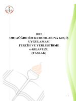 TASLAK - Milli Eğitim Bakanlığı