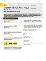 Page 1 Teknik Bilgi Formu Shell Rimula R5 E 10W-40 (CI