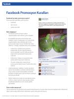 Facebook Promosyon Kuralları