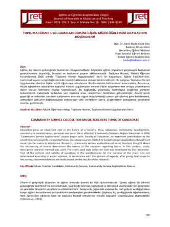 18.Çevik Kılıç - Eğitim ve Öğretim Araştırmaları Dergisi