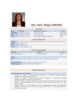 Res. Asst. Müge AKKARA - Celal Bayar Üniversitesi
