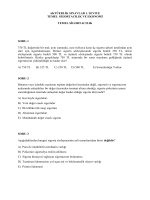 Birinci Seviye – Temel Sigortacılık Sınavı Soruları