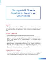 Nazogastrik Sonda Takılması, Bakımı ve Çıkarılması