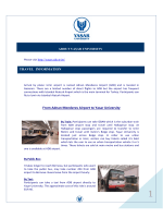 From Adnan Menderes Airport to Yasar University