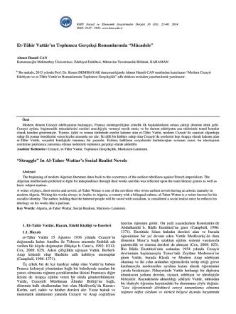 Ahmet Hamdi CAN - KMÜ Sosyal ve Ekonomik Araştırmalar Dergisi
