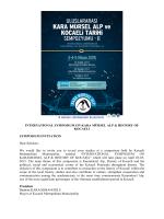 Invitation - uluslararası kara mürsel alp ve kocaeli tarihi sempozyumu