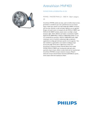 ArenaVision MVF403 spor projeksiyon armatürü