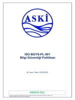 ISO-BGYS-PL-001 Bilgi Güvenliği Politikası