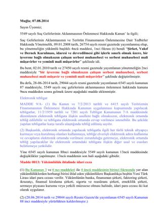 6545 Sayili Kanunun 87. ve 88. maddeleri ile getirilen hukumler